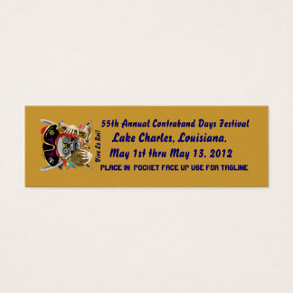 Pirate Days Dual Logo Bicentennial  Pls View Notes Mini Business Card