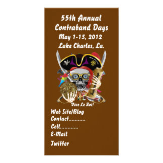 Pirate Days Lake Charles, Louisiana. 30 Colors Custom Photo Card