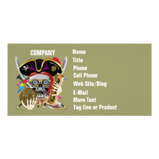 Pirate Days Lake Charles, Louisiana. 30 Colors Personalised Photo Card