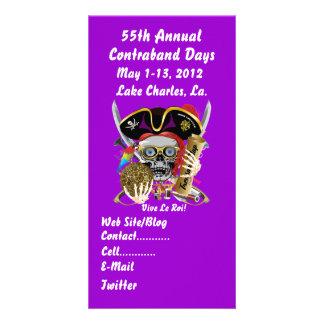 Pirate Days Lake Charles Louisiana 30 Colors Custom Photo Card