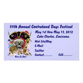 Pirate Days Lake Charles, Louisiana. 30 Colors Photo Greeting Card