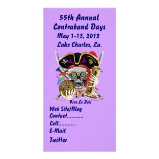 Pirate Days Lake Charles, Louisiana. 30 Colors Personalized Photo Card