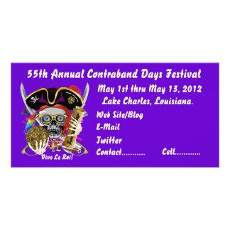 Pirate Days Lake Charles, Louisiana. 30 Colors Photo Card