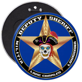 Pirate Deputy Sheriff  IMPORTANT Read About Design 6 Cm Round Badge