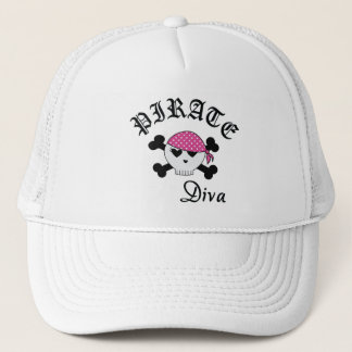 Pirate Diva Trucker Hat
