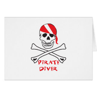 Pirate Diver Card