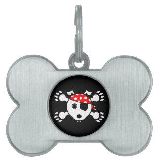 Pirate Dog Pet ID Tag