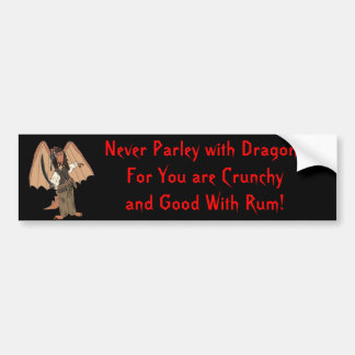 Pirate Dragon Bumper Sticker
