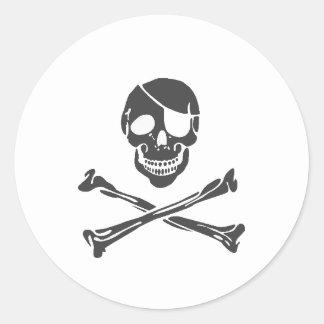 Pirate - Emo Alternative Grunge Rock Punk Scene Round Sticker
