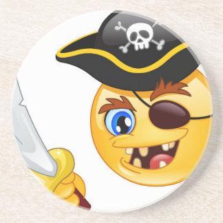 pirate emoji drink coaster