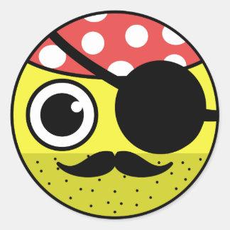 Pirate Face Classic Round Sticker