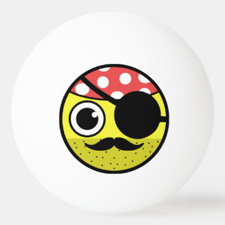 Pirate Face Ping Pong Ball