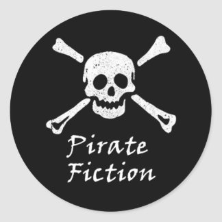 Pirate Fiction Book Cover Genre Round Sticker