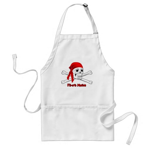 Pirate First Mate Skull and Bones Apron