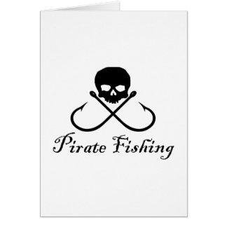 Pirate Fishing Greeting Card