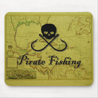 Pirate Fishing Mouse Pad