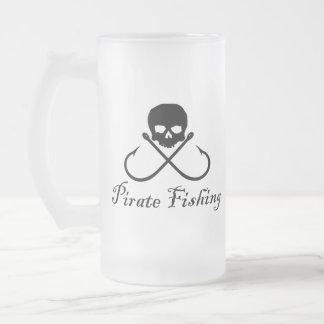 Pirate Fishing Skull & Crossed Hooks Mug