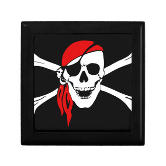 Pirate Flag Bones Skull Danger Symbol Gift Box