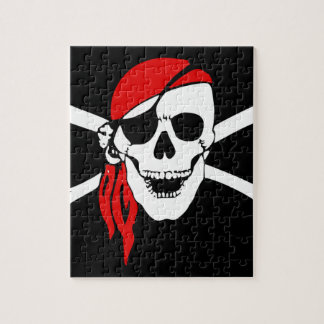 Pirate Flag Bones Skull Danger Symbol Jigsaw Puzzle