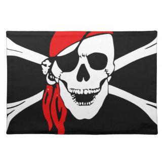 Pirate Flag Bones Skull Danger Symbol Placemat