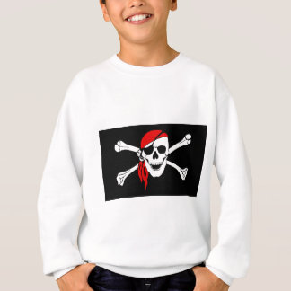 Pirate Flag Bones Skull Danger Symbol Sweatshirt