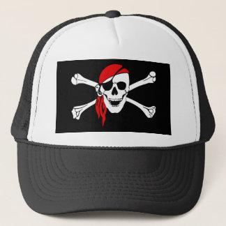 Pirate Flag Bones Skull Danger Symbol Trucker Hat