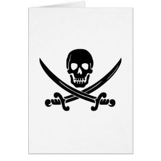 Pirate Flag Note Card