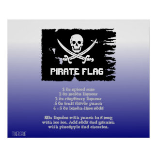 Pirate Flag Drink Recipe Poster