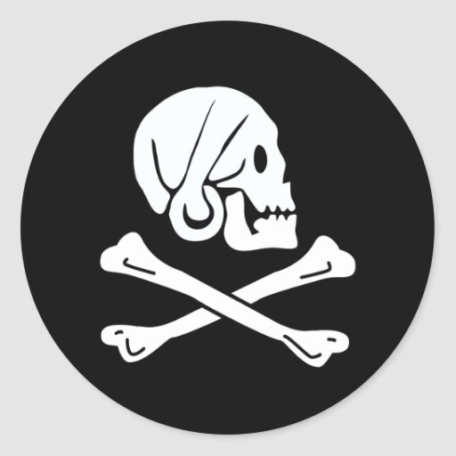 Pirate Flag - Jolly Roger Round Stickers