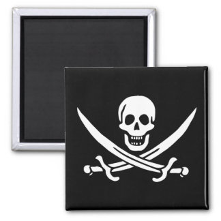 Pirate Flag of Calico Jack Square Magnet