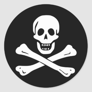 Pirate Flag of Edward England Round Sticker