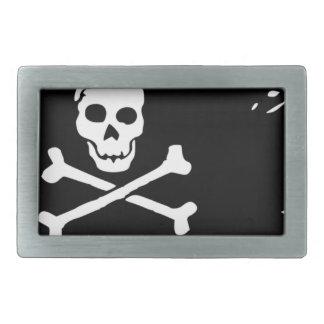 Pirate Flag Rectangular Belt Buckle