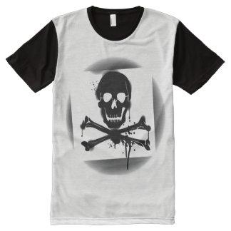 Pirate Flag Skull and Crossbones Jolly Roger All-Over Print T-Shirt