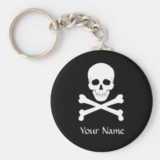 Pirate Flag Skull and Crossbones Jolly Roger Key Ring
