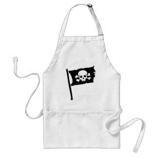 Pirate flag standard apron
