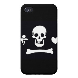 Pirate Flag Stede Bonnet iPhone 4 Covers