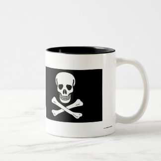 Pirate Flag Two-Tone Mug