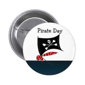 Pirate Flag with Crossbones 6 Cm Round Badge