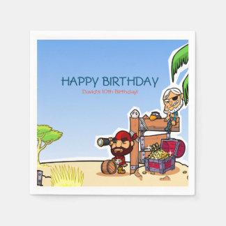 Pirate Friends  Kids Birthday Party Paper Supplies Disposable Serviette