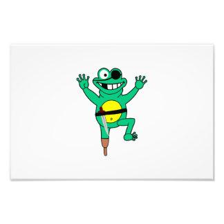 Pirate frog cartoon photo print