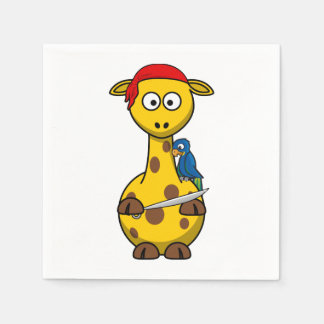 Pirate Giraffe Paper Napkins