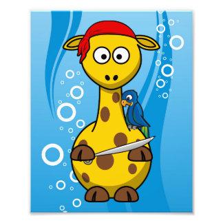 Pirate Giraffe Water Background Photo