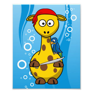 Pirate Giraffe Water Background Photo