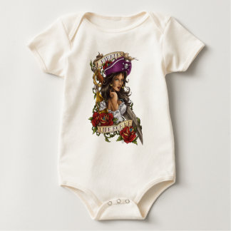 """Pirate Girl """"A pirate's life for me"""" Baby Bodysuit"""