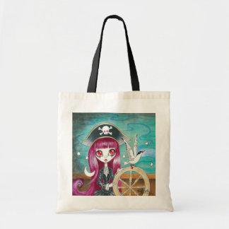 Pirate Girl Hilda Tote Bags