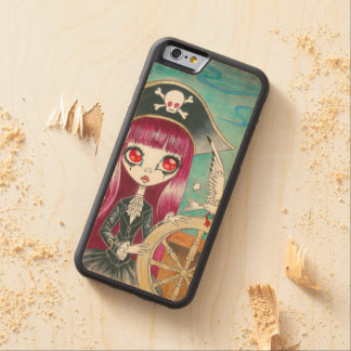 "Pirate Girl : ""Hilda"" Maple iPhone 6 Bumper Case"