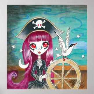 Pirate Girl Hilda Print