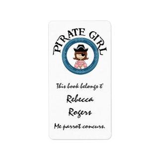 Pirate Girl Label