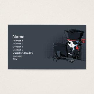 Pirate hacker business card