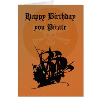 Pirate Happy Birthday card
